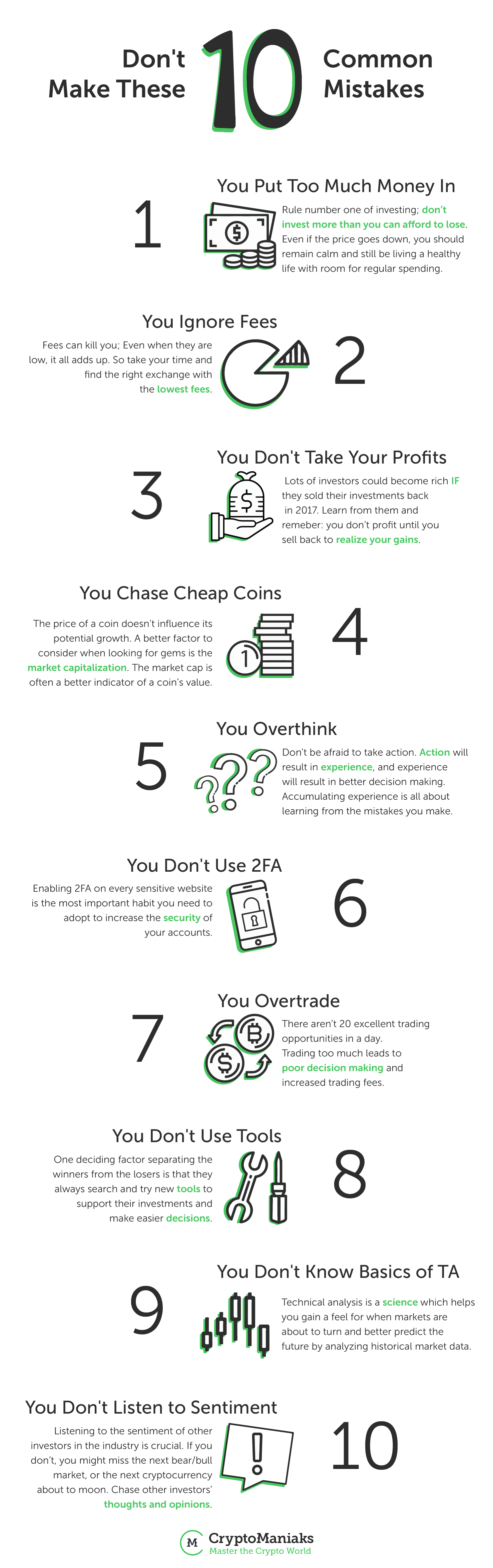 10 mistakes cryptocurrency investors make