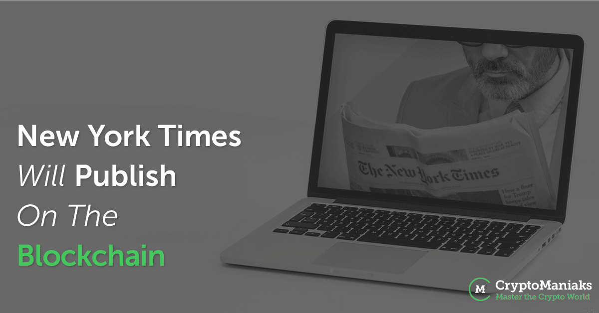 New York Times will Publish on the Blockchain