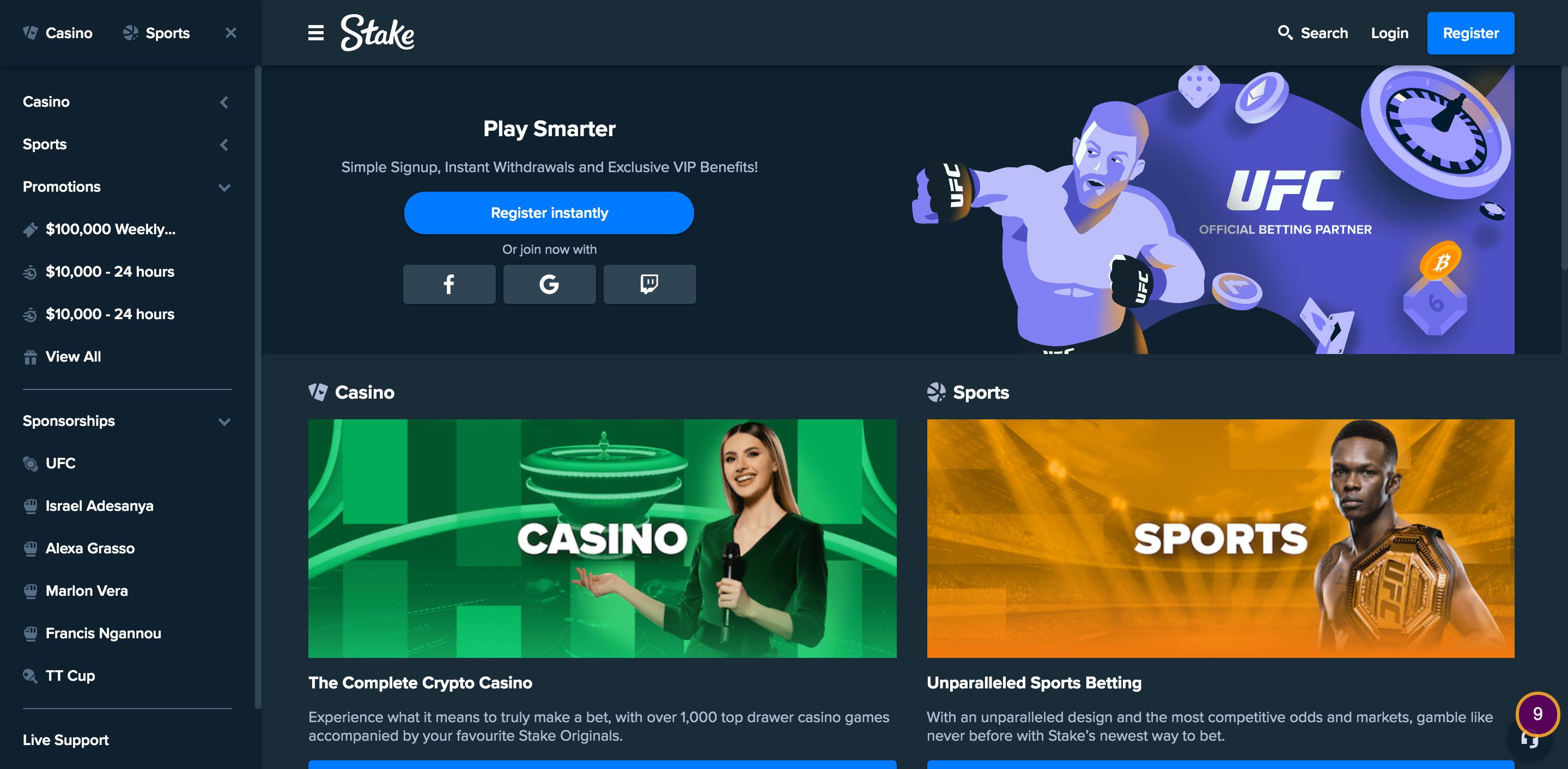 Stake.com Screenshot