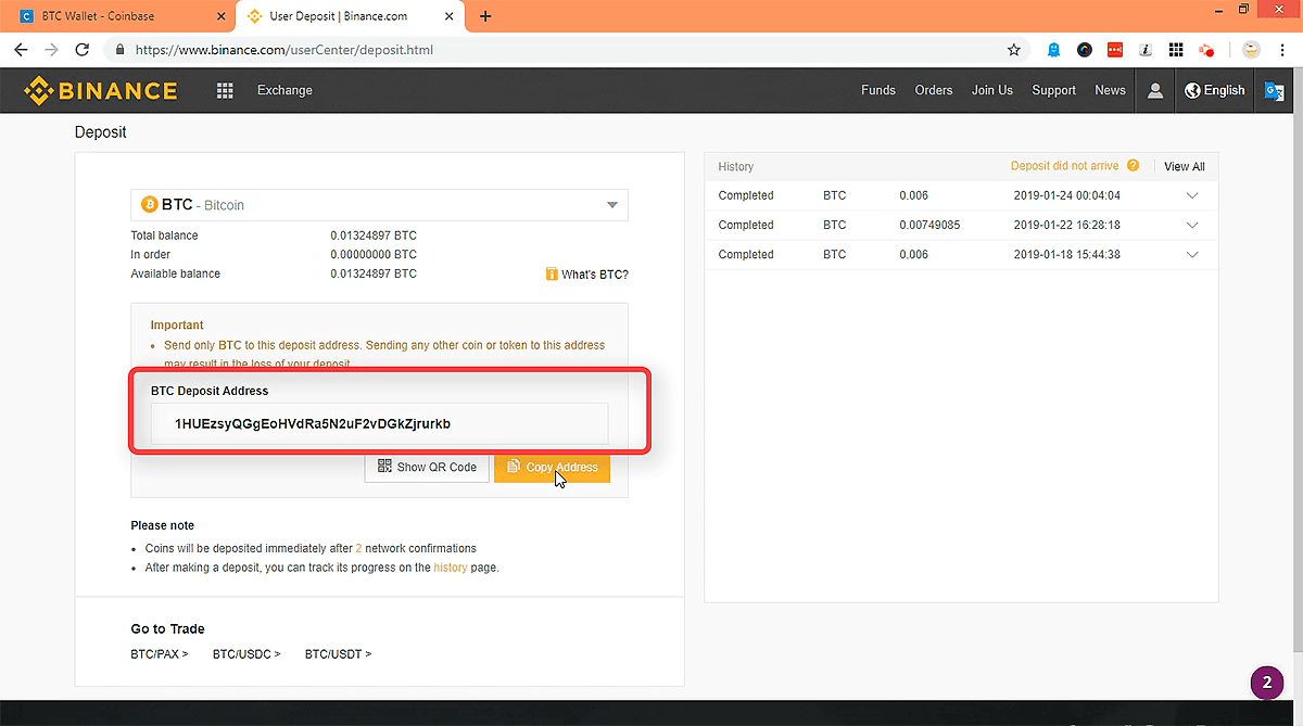 ar galiu deponuoti bitcoin į coinbazės)